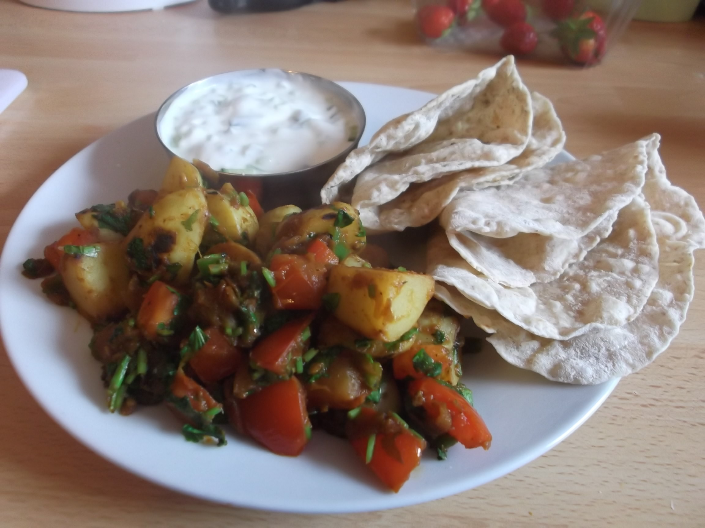 New Potato Curry - Mortgage Free in Three