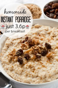 Homemade Instant Porridge - Just 3.6p per breakfast, what an incredible savings! This will be my frugal go-to breakfast from now on.