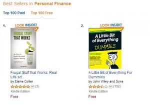 No 1 on Personal Finance Amazon 20 jan