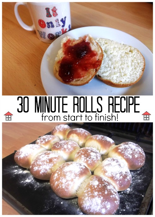 30 Minute Rolls Recipe - From start to finish 30 minutes to delicious fresh rolls