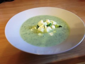 Miette's Cream of Courgette Soup