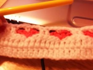 Scrappy Yarn Baby Heart Blanket