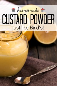 Homemade Custard Powder – just like Bird's