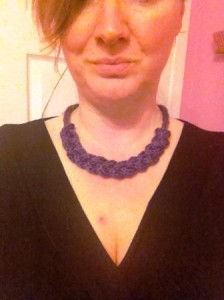 """Anthropologie"" Knitted Necklace for 13p"