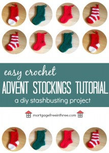 These adorable and easy crochet advent stockings are going to be a part of my Christmas this year!