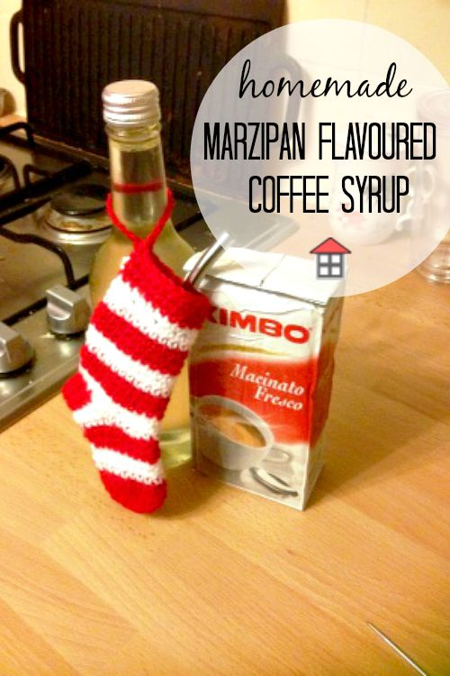 While posh sounding, these are a wonderfully frugal homemade DIY gift. Here's a recipe for marzipan flavoured coffee syrup that I will definitely be making!
