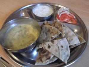Aloo Paratha .. amazing! with Lemon dal and raitha