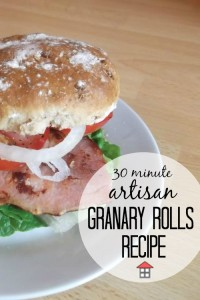 Whip up these scrumptious artisan granary rolls in a measley 30 minutes. That's amazing!