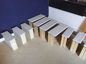 Frugal Chalk Painting for Furniture - rows of drawers