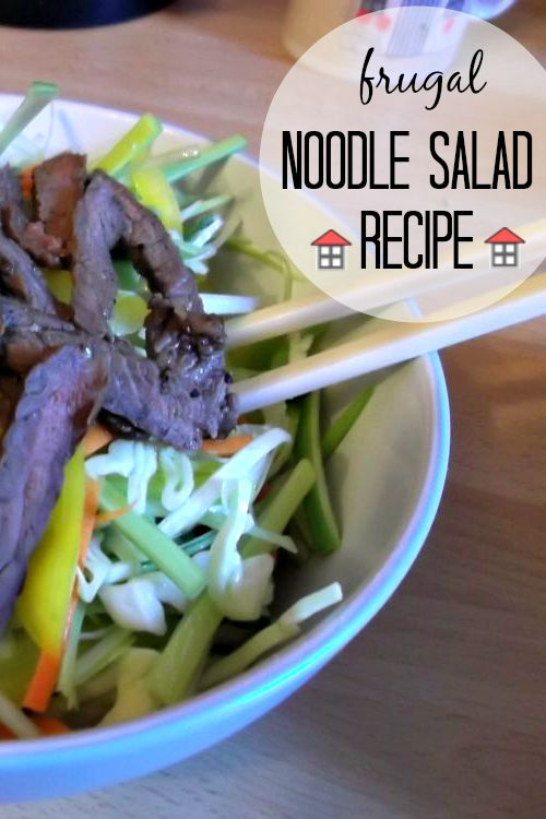 A Fast and Frugal Noodle Salad Recipe for weeknight dinners.  I can't wait to try this.