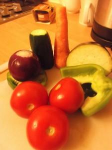 Warm Moroccan Salad - ingredients
