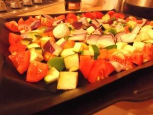 Warm Moroccan Salad -Chopped Veggies