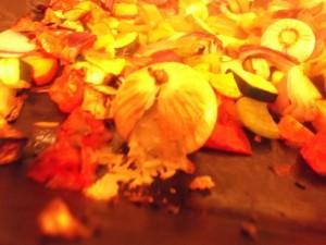 Warm Moroccan Salad - exploded roast garlic