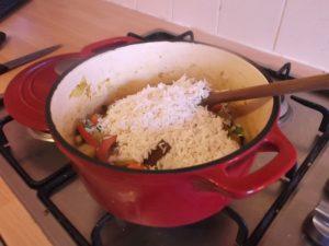 Vegetable Biryani  - add rice