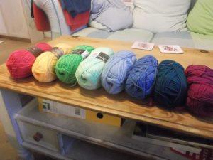 Temperature Afghan - colour choice