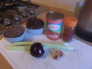 Smokey Black Bean and Lentil Soup - ingredients