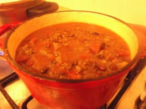 Smokey Black Bean and Lentil Soup -TADA
